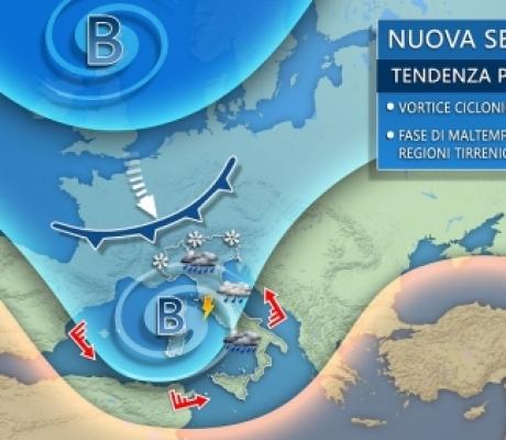 METEO - Tornano le piogge dopo due mesi di siccità, lunedì ciclone sull'Italia