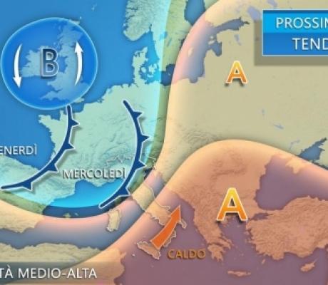 METEO - Acquazzoni e sole, l'Italia è divisa a metà