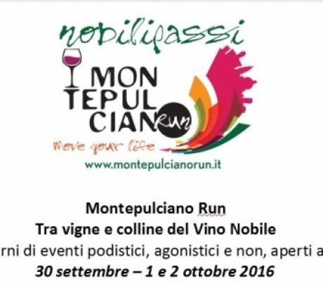 """""""MontepulcianoRun"""" tre giorni tra sport, salute e promozione territorio"""