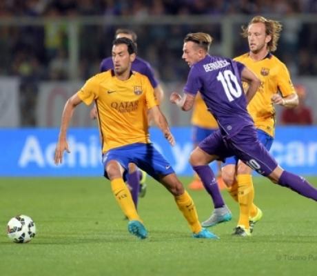 Fiorentina - Barcellona 2-1, le immagini