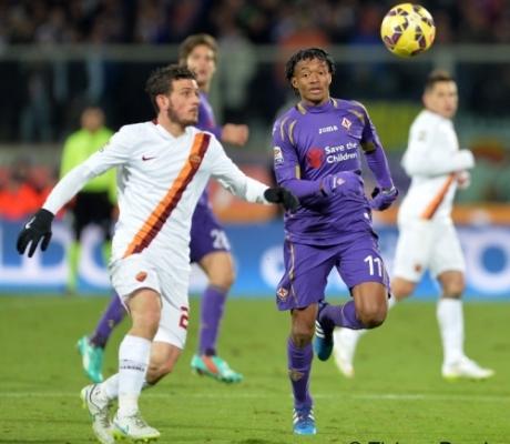 1-1 tra Fiorentina e Roma, a segno prima Mario Gomez poi Ljajic - IMMAGINI