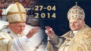 GIOVANNI XXIII E GIOVANNI PAOLO II SONO SANTI