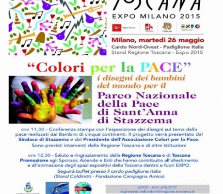 EXPO MILANO 2015 - I colori della Pace, i bambini del mondo disegnano per il Parco Sant'Anna di Stazzema