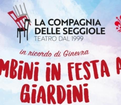 Compagnia delle seggiole per i bambini di Firenze nella festa della Fondazione Ginevra Olivetti Rason