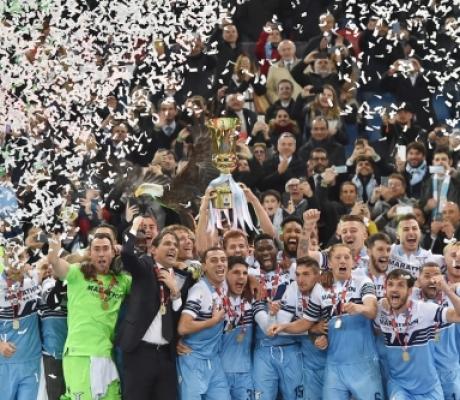 Coppa Italia alla Lazio, battuta l'Atalanta 2 reti a 0. GALLERIA IMMAGINI