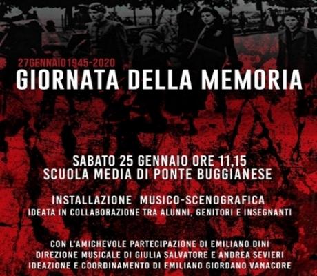 Giorno della Memoria, una grande installazione scenografica alla scuola media di Ponte Buggianese