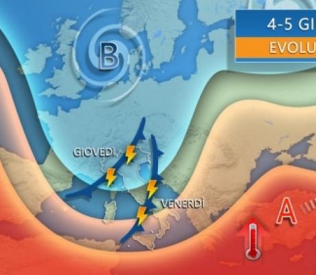 Pioggia e rischio nubifragi, forte maltempo giovedì e venerdì