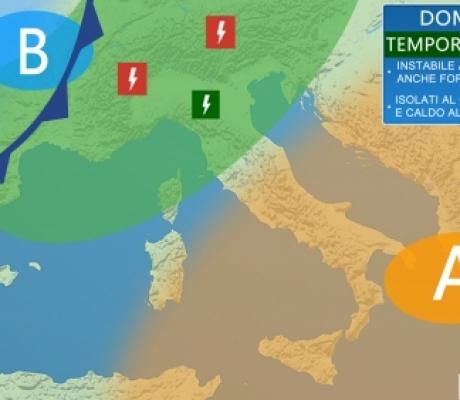Primo vero caldo africano, ma forti temporali in arrivo da domenica specie al nord