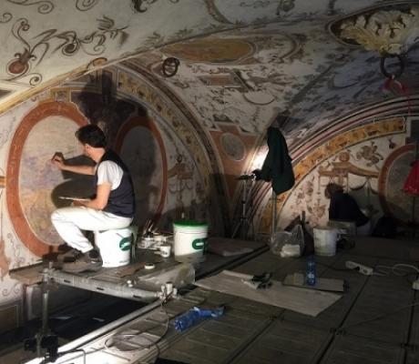 ARTE - Restauro del Cortile di Michelozzo di Palazzo Vecchio, Genten celebra l'avanzamento dei lavori