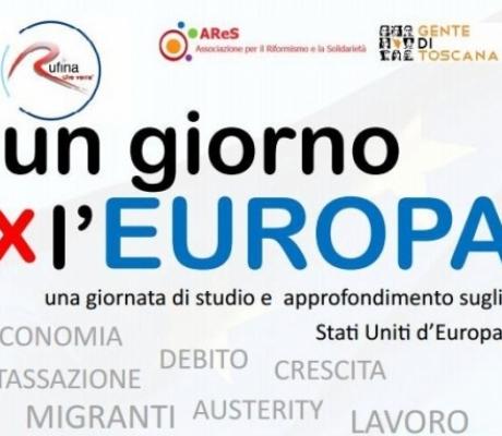Rufina: l'Europa al centro di una giornata di studio con l'On Sacconi e il Sottosegretario Baretta